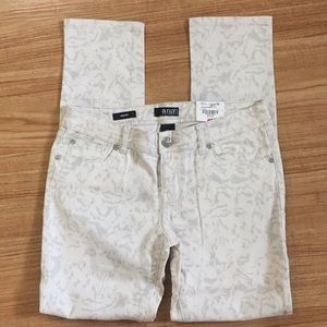 Sophisticated White Leopard Print Jeans